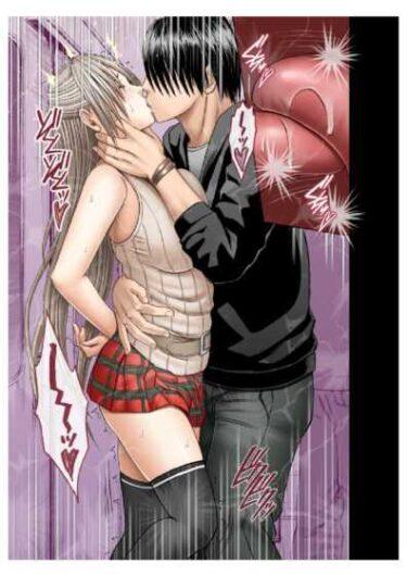 クリムゾンさんの同人誌「●漢囮捜査官キョウカ」で杏花が●漢にキスをされて思わず感じてしまっている場面