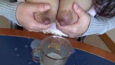 まりえせんが面接で母乳を出しているAVのエロ画像