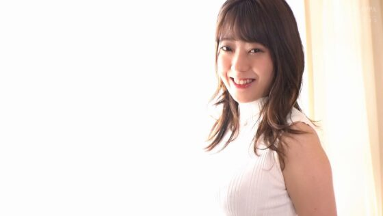 希のぞみちゃんが出演した「174cm 高身長新人 AV DEBUT 現役ファッションモデル」の冒頭シーン