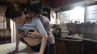 熟女AV女優・高橋美園さんが「我が家の美しい姑」で娘婿にオッパイを揉まれているエロ画像