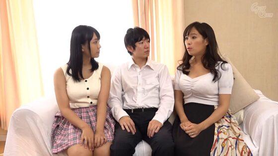 稲場るかちゃんと真木今日子ちゃんが出演した「巨乳母娘WNTR」の冒頭シーン