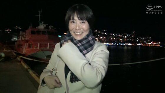 真知子(仮)が出演した「日帰り温泉 熟女色情旅 #020 45歳 結婚16年目」のラストシーン