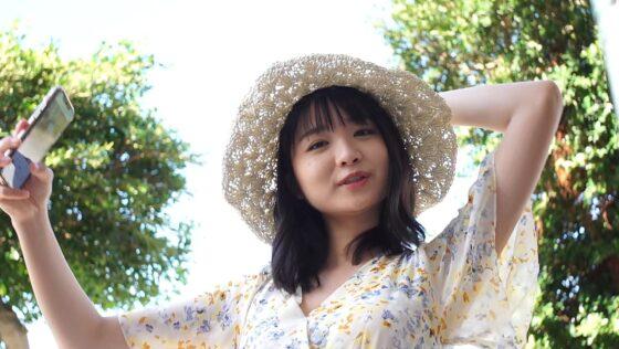 倉沢しえりが出演した「素顔。」の冒頭シーン