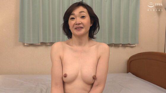 板垣慶子が出演した「初撮り五十路妻ドキュメント」のラストシーン