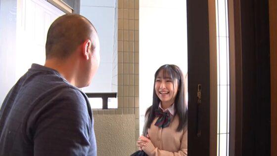 成田つむぎが出演した「関西弁の甘声姪っ子に中出し」の冒頭シーン