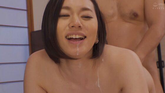 平井栞奈が出演した「絶倫義父 真面目な嫁が義父に抱かれ続けたら・・・」のラストシーン