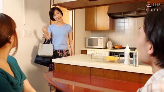 堀美也子が出演した「我が家の美しい姑」の冒頭シーン