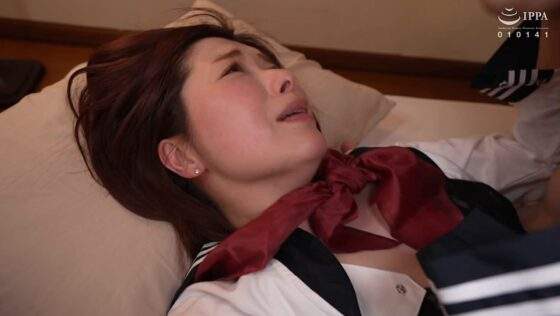加藤ツバキが出演した「旦那が出張で家を空けた3日間、絶倫息子との性行為に溺れ、72時間朝から晩までハメまくる欲求不満な母親。」のラストシーン