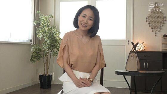 瀬尾礼子が出演した「初撮り五十路妻ドキュメント」の冒頭シーン