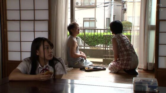 姫咲はなが出演した「巨乳に成長した隣の娘を調●●育」の冒頭シーン