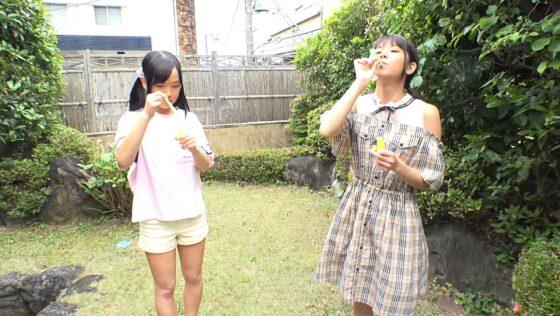 工藤ララと永野いち夏が出演した「日焼け跡の残る連れ子姉妹」の冒頭シーン